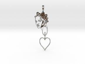 RIHANNA PENDANT in Interlocking Polished Silver