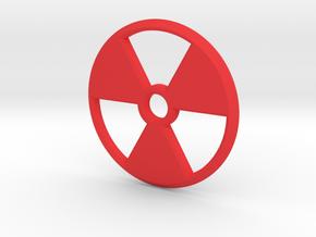 Radioactive Pendant in Red Processed Versatile Plastic