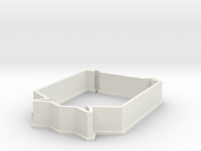 Survey Corp cookie cutter  in White Natural Versatile Plastic