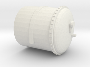 Part 1- Gas Tank (Left hand end with gauge) in White Natural Versatile Plastic