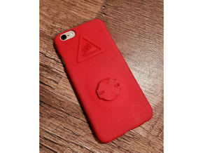 iPhone 6/6S Garmin Mount Case - Hill Climb in Red Processed Versatile Plastic