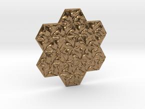 Hexagonal Spirals - Small Miniature in Natural Brass