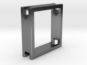 Loop ::: Square Pendant ::: v.01 in Polished Silver
