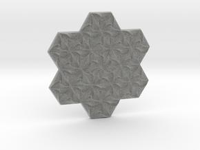 Hexagonal Spirals - Medium-sized Miniature in Metallic Plastic