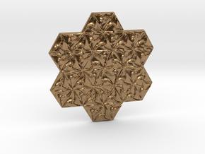 Hexagonal Spirals - Large Miniature in Natural Brass