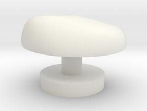 Cufflink  in White Natural Versatile Plastic: Small