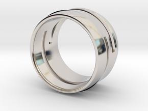 Modern+Cutout_Wide in Rhodium Plated Brass: 12.5 / 67.75