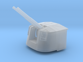 """1/350 4.7"""" MKXII CPXIX Mount x4 40º Ports Closed in Smoothest Fine Detail Plastic"""