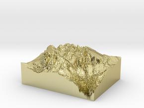 """MyTinyDolomites """"Sasso Lungo e Sasso Piatto"""" (Dolo in 18k Gold Plated Brass"""