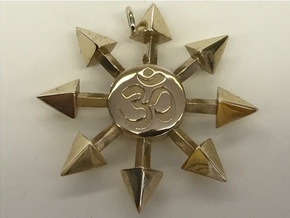 Chaos Star Pendant in Polished Brass