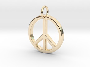 Peace Symbol in 14K Yellow Gold