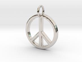 Peace Symbol in Platinum