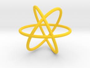 3 Rings in Yellow Processed Versatile Plastic