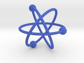 Atom in Blue Processed Versatile Plastic