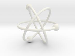 Model of the atom in White Natural Versatile Plastic