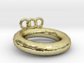 Olympic Ring Size 6 in 18k Gold Plated Brass