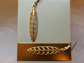Feather - Earring in 18k Gold Plated Brass