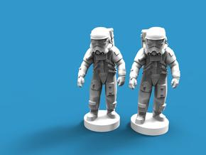 Star wars withe soldier x2 (base) in Frosted Ultra Detail