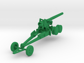 1/160 Scale M1 155mm Long Tom in Green Strong & Flexible Polished
