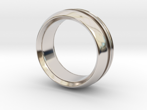 Modern+inset in Rhodium Plated Brass: 6 / 51.5