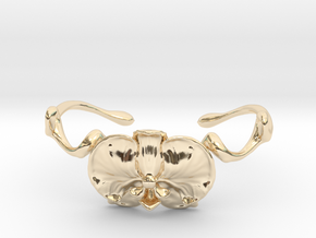 Orchid Cuff in 14k Gold Plated Brass