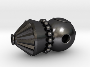Vostok Pendant in Polished and Bronzed Black Steel