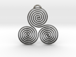 Triskele II in Polished Silver