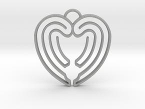 Heart Shape Angel Wings in Aluminum