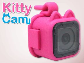 Kitty Cam - Gopro Mount for Pets in Pink Processed Versatile Plastic