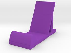 Phone Stand  in Purple Processed Versatile Plastic