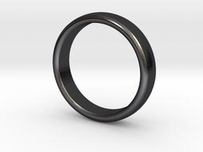 Mens Sleek Band  M-008 in Polished and Bronzed Black Steel