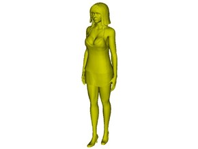 1/15 scale beautiful girl figure A in Smooth Fine Detail Plastic