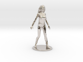 Princess Ariel Miniature in Rhodium Plated Brass: 1:60.96