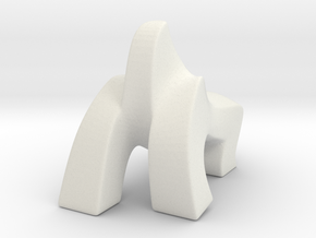 Gollira statue (Walking model Small) in White Natural Versatile Plastic