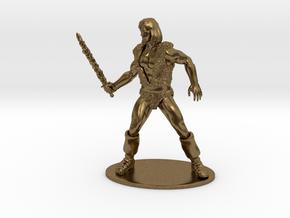 Thundarr the Barbarian Miniature in Raw Bronze: 1:55