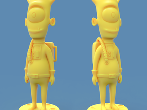 Alien toy figure in Yellow Processed Versatile Plastic