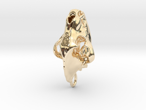 Hyena pendant in 14K Gold