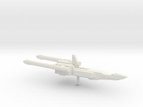 MSZ-010 Double Zeta Gundam Double Beam Rifle 1-144 in White Strong & Flexible