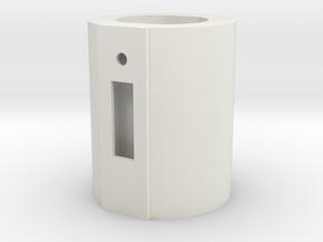 Gerbil Nose Poke (narrow) in White Natural Versatile Plastic
