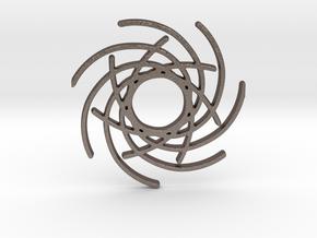 Seven Lines I - Gitinbel in Polished Bronzed Silver Steel