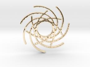 Seven Lines I - Gitinbel in 14k Gold Plated Brass