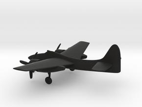 Grumman F7F Tigercat in Black Natural Versatile Plastic: 1:200
