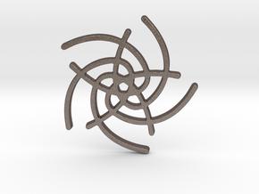 Five Lines I - Gitinbel in Polished Bronzed Silver Steel