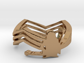 Michael Angelo Batio Ring in Polished Brass