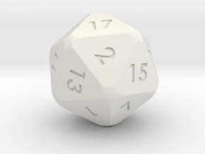 DnD Dice in White Strong & Flexible