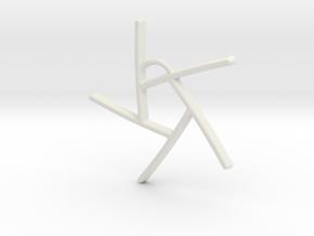 Five Lines II - Home in White Natural Versatile Plastic