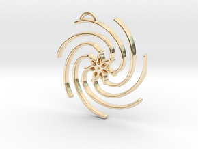 Seven Lines III - Spiral Star in 14k Gold Plated Brass