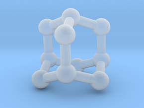 0628 Adamantane (Ball-and-stick model without H) in Smooth Fine Detail Plastic