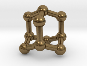 0628 Adamantane (Ball-and-stick model without H) in Natural Bronze