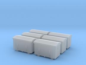 TJ-H04651x6 - Caisses à piles acier galvanisé gran in Smooth Fine Detail Plastic